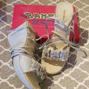NWB Flower Sandals